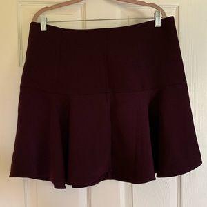 Dark Purple Flounce Mini Skirt